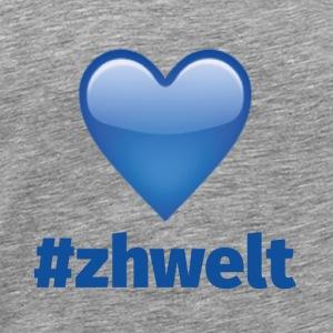 ZHWELT LOGO mit Herz - Männer Premium T-Shirt