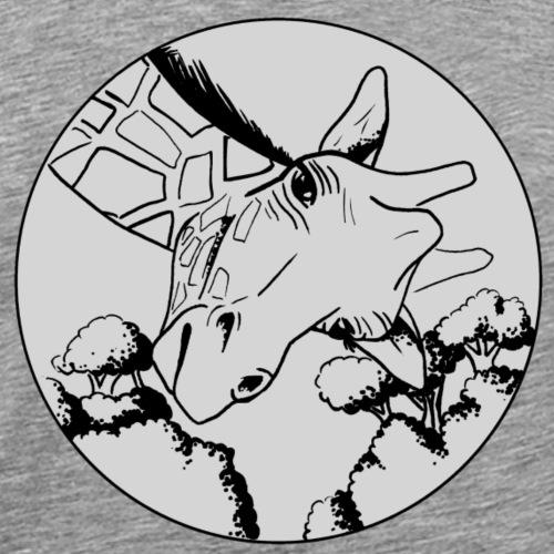 tête de girafe grey - T-shirt Premium Homme