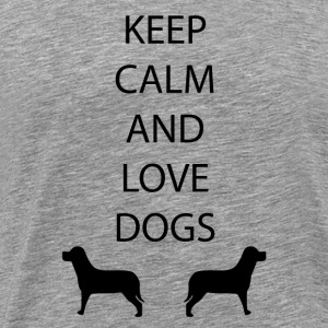 Dogs Keep Calm - Men's Premium T-Shirt
