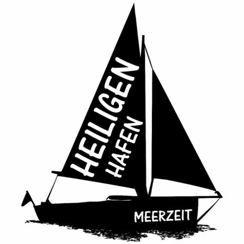 Heiligenhafen Meerzeit Schwarz - Männer Premium T-Shirt