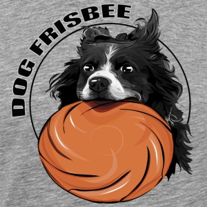 DOG FRISBEE Border Collie - Premium-T-shirt herr