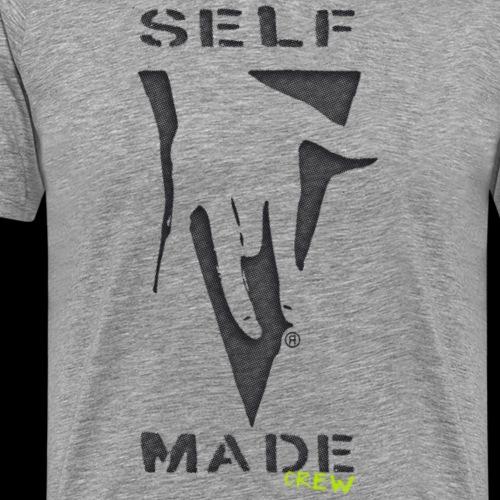 Selfmadecrew Handshake logo. Design by Ostap - Men's Premium T-Shirt