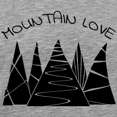 Outdoor Berge Alpen Mountain Love - Männer Premium T-Shirt