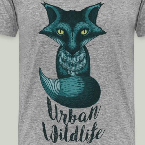 urban wildlife blau - Männer Premium T-Shirt