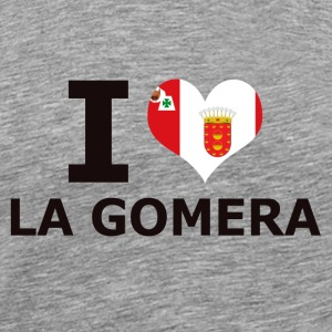 I LOVE LA GOMERA FLAG - Men's Premium T-Shirt