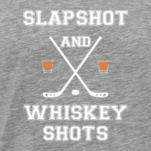 Slapshot and Whiskey Shots - Männer Premium T-Shirt