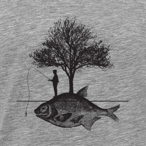 Angeln fischen fisch lustig geschenk rute vatertag - Männer Premium T-Shirt