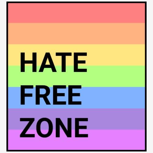 Hate Free Zone II Rainbow black - Men's Premium T-Shirt