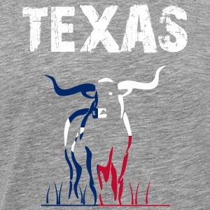Nation-design Texas Longhorn - Herre premium T-shirt