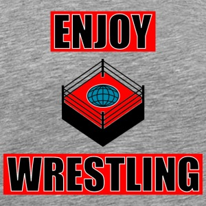 ENJOY_WRESTLING_RED_DesASD - Herre premium T-shirt