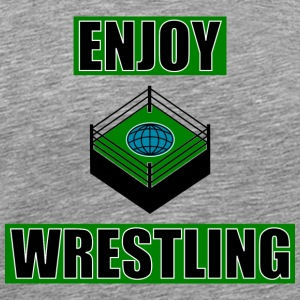 ENJOY_WRESTLING_GREEN_DesASD - Herre premium T-shirt