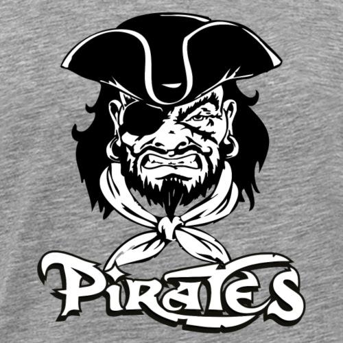logo pirates bianco e nero - Maglietta Premium da uomo