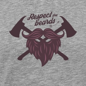 Respect the beard t shirt - Men's Premium T-Shirt