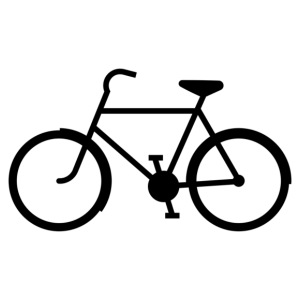 Zwarte fiets - Mannen Premium T-shirt