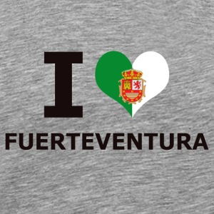 I LOVE FUERTEVENTURA FLAG - Men's Premium T-Shirt