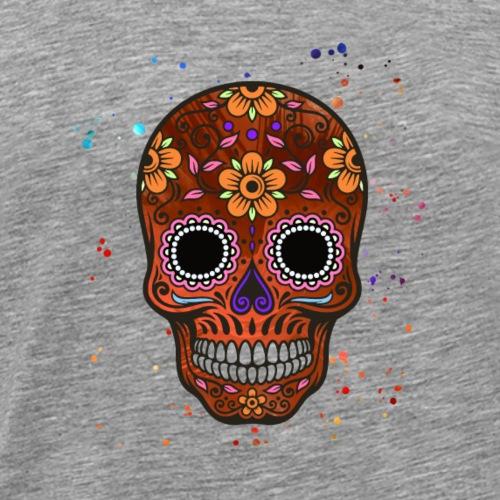 Bunter Totenkopf - Abstract - Flower - Männer Premium T-Shirt