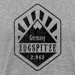 Zugspitze Germany - Used Look - Men's Premium T-Shirt