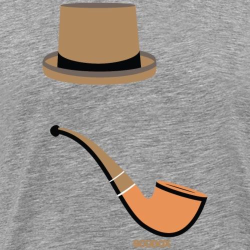 Mister Hipster - Mannen Premium T-shirt