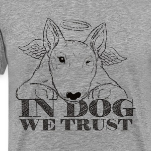 In Dog We Trust Black - Men's Premium T-Shirt