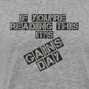 gainsday - Premium-T-shirt herr