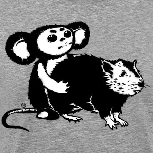 """We love street art too""! Cheburashka vs Banksy - Men's Premium T-Shirt"