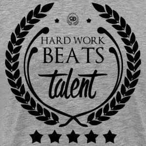 HARD WORK BEATS TALENT - Koszulka męska Premium