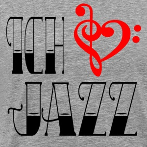 I LOVE JAZZ - Herre premium T-shirt