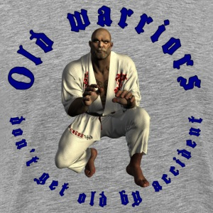 Jiu-Jitsu Old Warrior - Herre premium T-shirt
