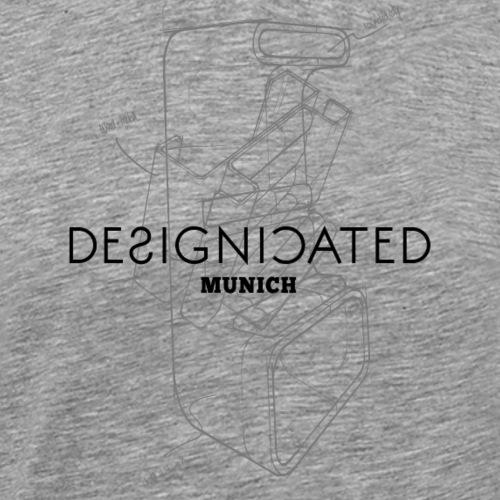 Designicated Munich schwarz - Männer Premium T-Shirt