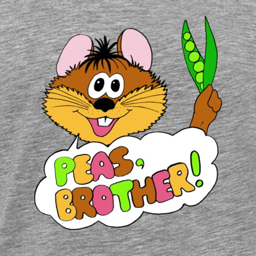 PEAS, BROTHER! - Männer Premium T-Shirt