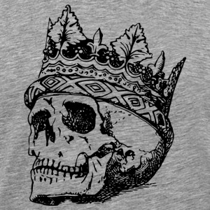 death and crown of head Drawing - Men's Premium T-Shirt