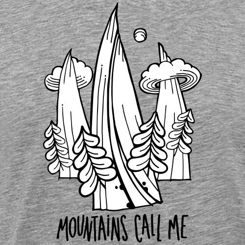 montagnes - T-shirt Premium Homme