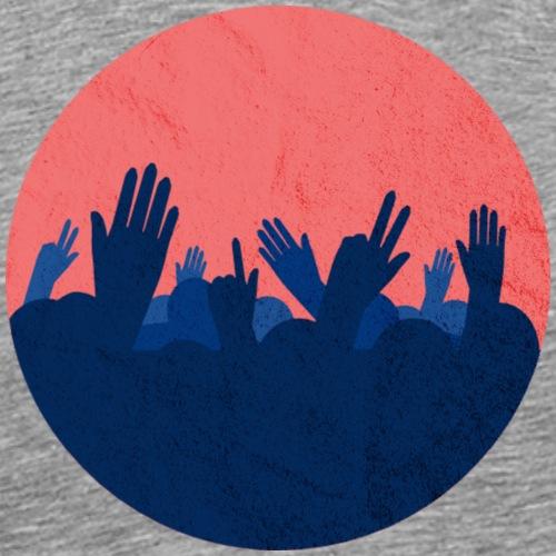 Festival-Hände mit Textur - Party - Feiern - Männer Premium T-Shirt