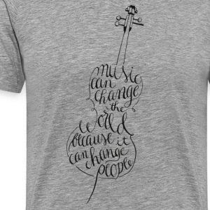 Cello calligraphy - Men's Premium T-Shirt