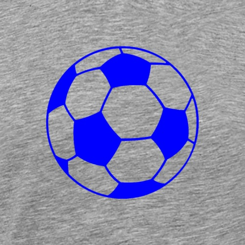 Fußballblau - Männer Premium T-Shirt