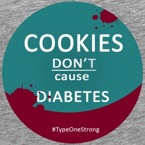 Cookies don't cause Diabetes (türkis) - Männer Premium T-Shirt