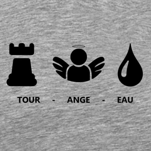 Tshirt Tours - Tshirt Tourangeau en rébus - T-shirt Premium Homme