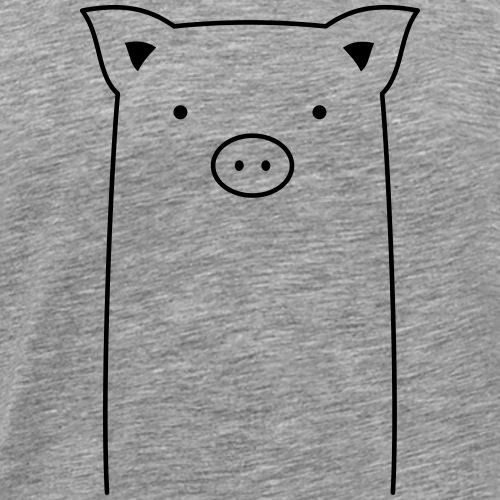Schwein Sau Ferkel Geschenkidee - Männer Premium T-Shirt