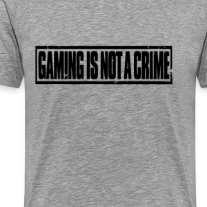 Gaming is geen misdaad - Mannen Premium T-shirt