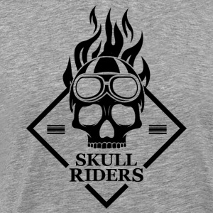 Skulls Motorcycle Motorcyclists - Men's Premium T-Shirt