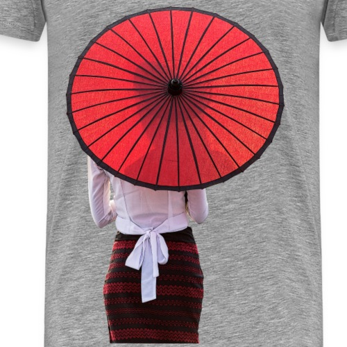 Woman with a Umbrella - Männer Premium T-Shirt