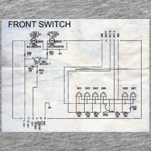 front switch - Männer Premium T-Shirt