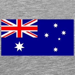 National Flag Of Australia - Herre premium T-shirt