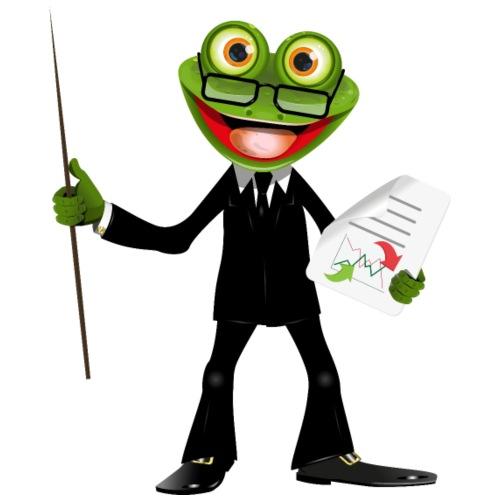 Frosch Anzug Business - Männer Premium T-Shirt