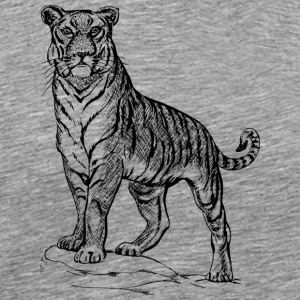 Tiger black and withe - Men's Premium T-Shirt
