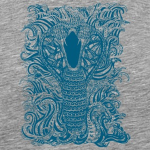 Snake-and-Water-in-Blue - Men's Premium T-Shirt