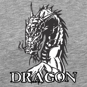 agry looking dragon white - Men's Premium T-Shirt