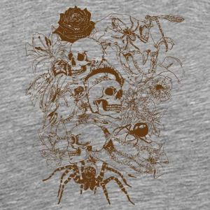 Skulls-et-Spiders-en-Brown - T-shirt Premium Homme
