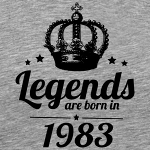 Legends 1983 - Herre premium T-shirt