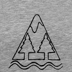 Mountain transparent - Men's Premium T-Shirt